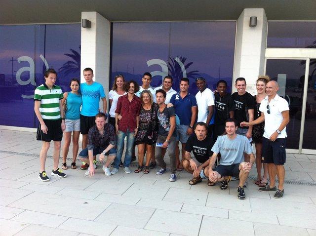 Bienvenida De Algunos Participantes A La Milla Isla De Ibiza.