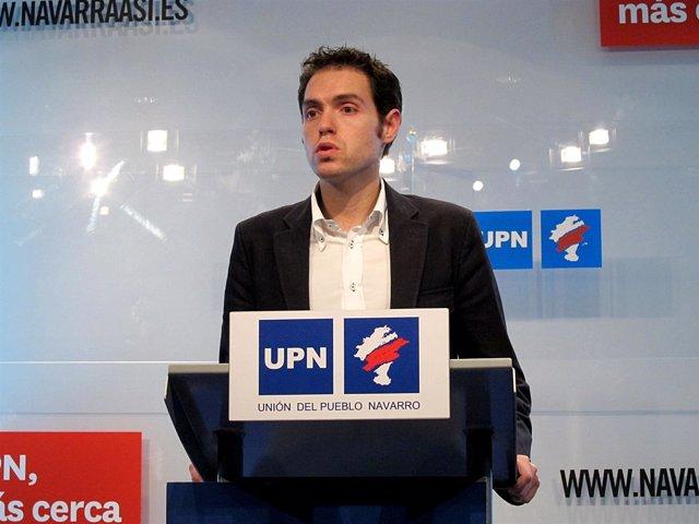 El secretario de Comunicación de UPN, Sergio Sayas.