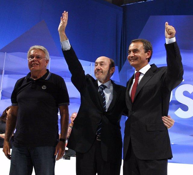 González, Rubalcaba Y Zapatero