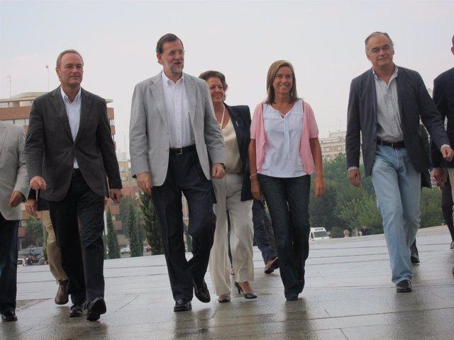 Fabra, Rajoy, Barberá Y González Pons, A Su Llegada Al Foro Del PP