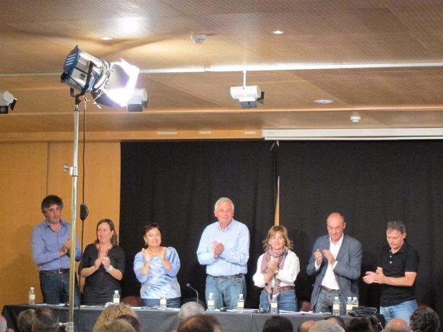 Guillerme Vázquez Con Candidatos Del BNG Al Congreso Y Senado