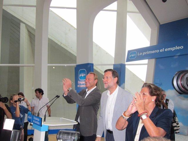 Fabra, Rajoy Y Barberá, En El Foro Del PP