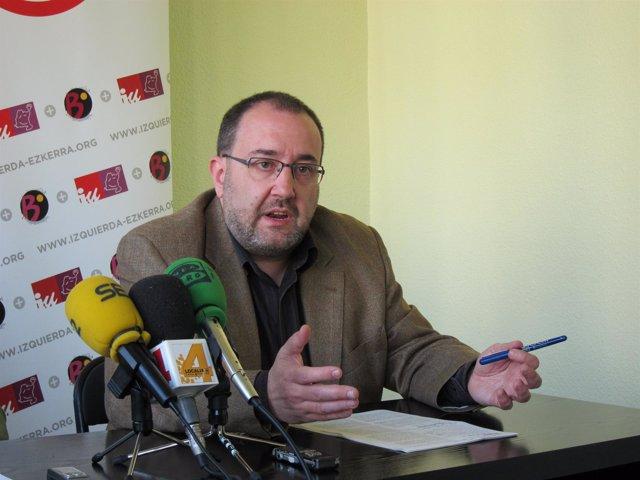 El Candidato De Izquierda-Ezkerra A La Presidencia De Navarra, José Miguel Nuin.