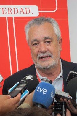 El Secretario Del PSOE-A Y Presidente De La Junta De Andalucía, José Antonio Gri