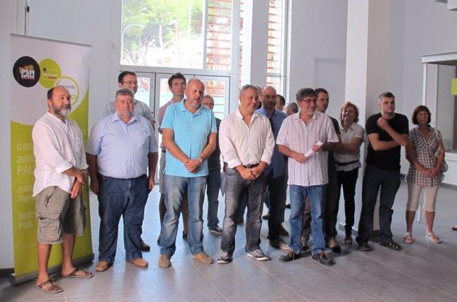 Miembros Del PSM-IV-Exm En La Erstación De Tren De Artà.