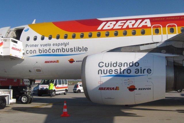 Primer Vuelo De Iberia Con Biocombustible