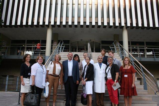 El Equipo Del Centro Karolinska En Su Visita A La Fe