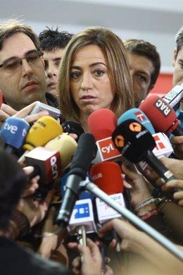 Carme Chacón, Ministra De Defensa, Durante La Conferencia Del PSOE