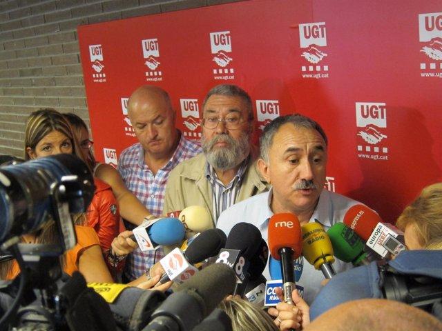 Cándido Méndez Y Josep Maria Álvarez (UGT)
