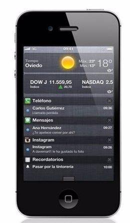 Iphone 4 Con Sistema De Notificaciones Por Apple
