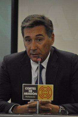 Ricardo Oliván En Las Cortes De Aragón