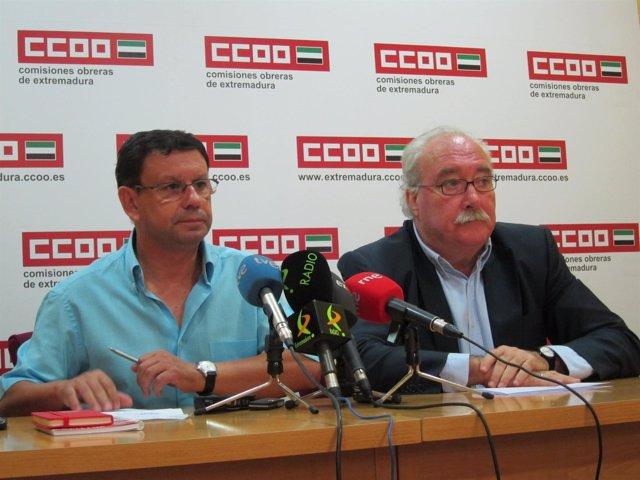 Tomás Chaves (CCOO) Y Luciano Fernández (PSOE)
