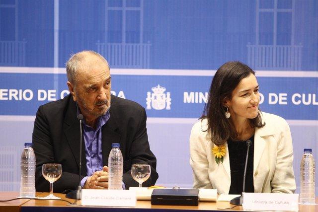 Ángeles González Sinde Y Jean Claude Carriére