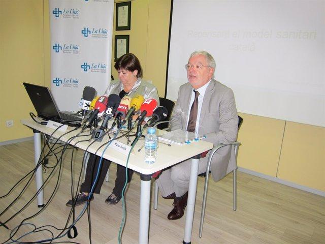 Helena Ris, Dtora.Gral. De La Unió Y Manel Jovells, Presidente