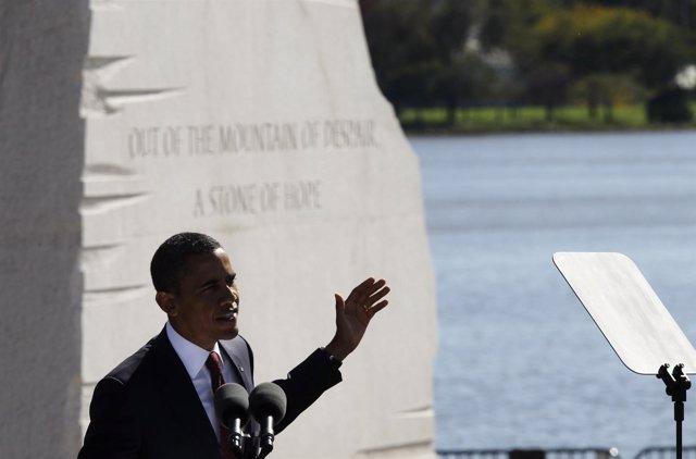 El Presidente De EEUU, Barack Obama, Inaugura Un Monumento A Luther King