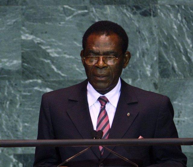 El presidente de Guinea Ecuatorial, Teodoro Obiang Nguema