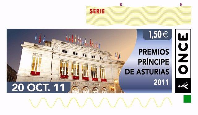 Cupón De La ONCE De Los Premios Príncipe De Asturias 2011