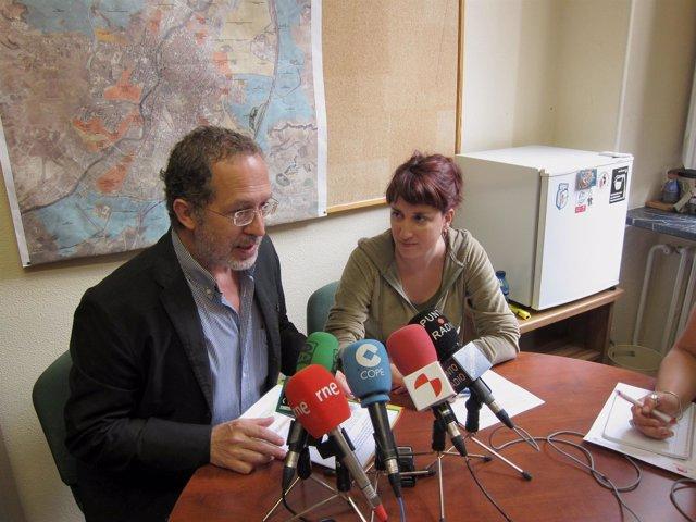 Concejales De IU En El Consistorio De Valladolid, Manuel Saravia Y María Sánchez