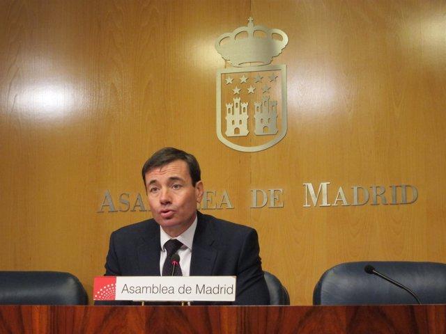 Tomás Gómez En Rueda De Prensa En La Asamblea De Madrid