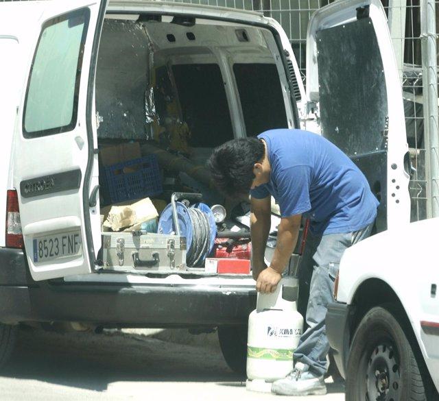 Inmigrante Trabajando.