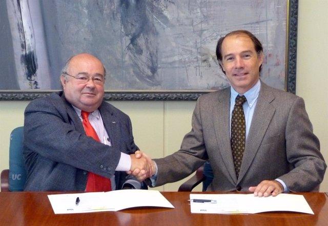 Firma Del Convenio Entre La UC Y El Hospital Virtual Valdecilla