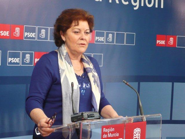 Teresa Rosique en rueda de prensa