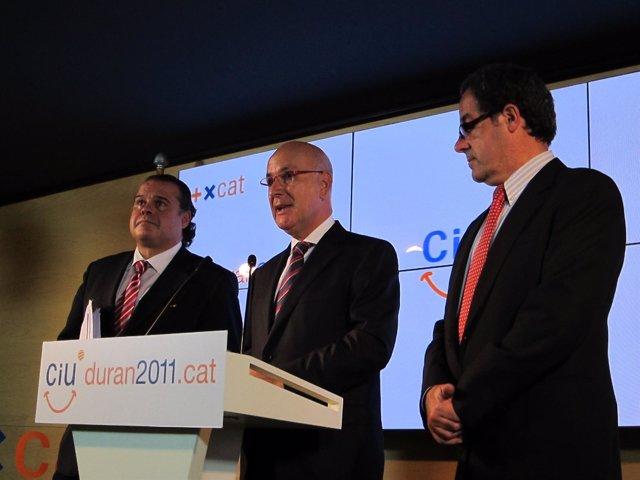Josep Antoni Duran, Pere Macias Y Manel Silva