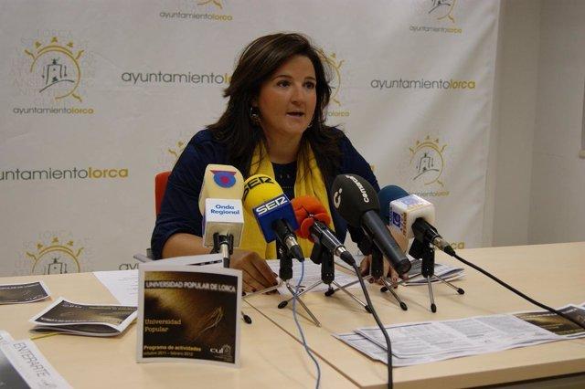 La Concejal De Cultura Del Ayuntamiento De Lorca, Sandra Martínez