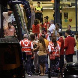 familiares de las victimas en el accidente de Barajas