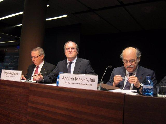 Dídac Ramírez, Ángel Gabilondo Y Andreu Mas-Colell