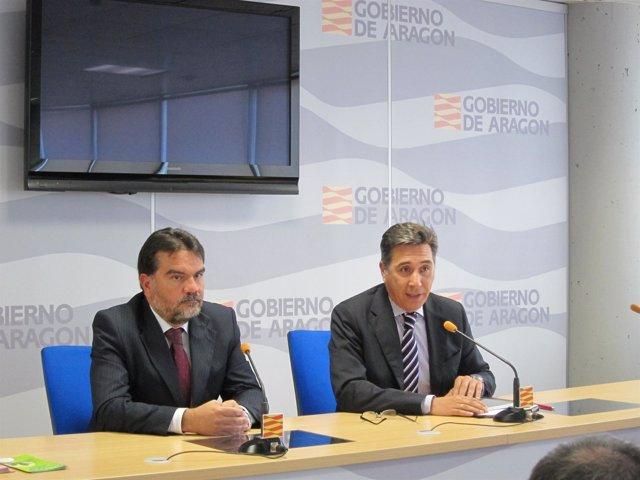 Rueda De Prensa Oliván (DGA) Y Francisco Valero