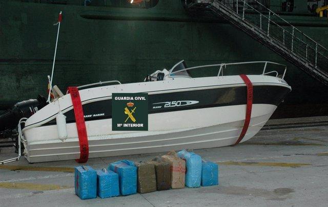 Embarcación Incautada Por La Guardia Civil