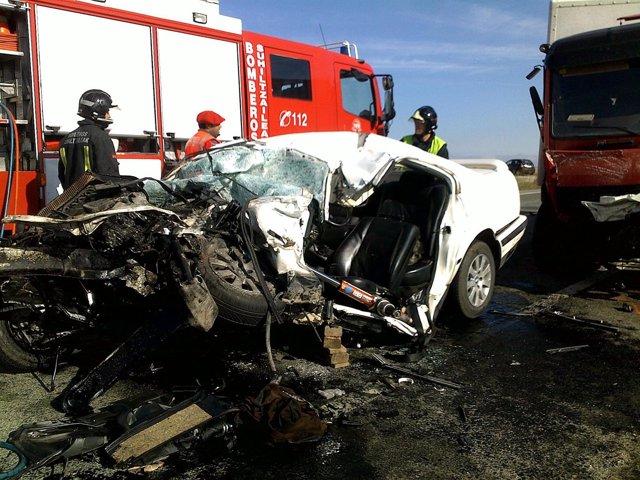 Accidente De Tráfico En Caparroso.