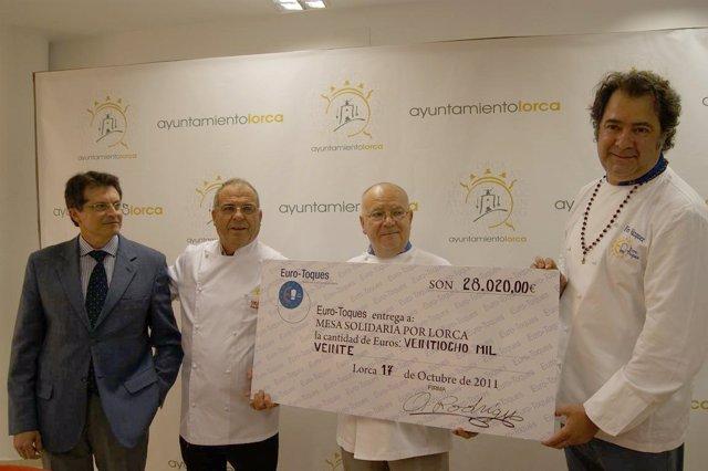 Eurotoques Dona A La Mesa Solidaria De Lorca Los 28.000 Euros