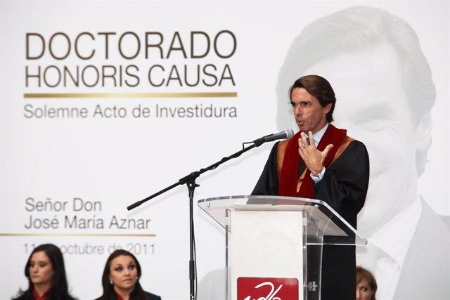 José María Aznar, Investido Doctor Honoris Causa