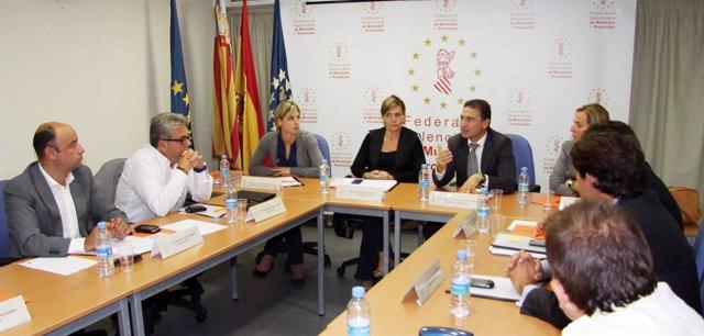 Reunión Entre La Generalitat Y La FVMP Para Abordar El Riesgo Sísmico
