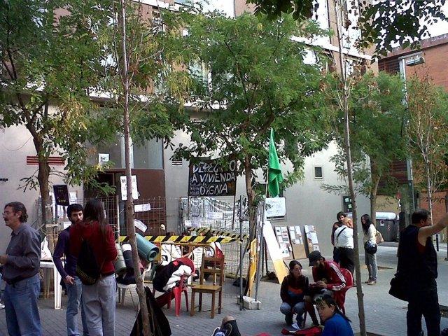 Vivienda 'Okupada' El 15-O Por Los 'Indignados' En Barcelona