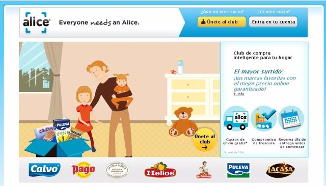 Página Web Alice.Es