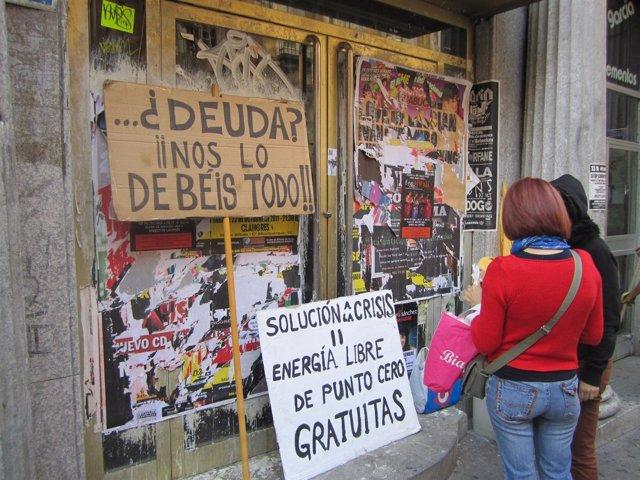 Hotel De La Calle Carretas Donde Se Encuentra Algunos De Los 'Indignados'
