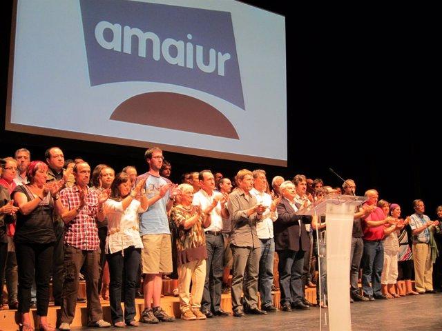 Presentación De La Coalición Amaiur.