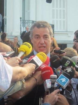 El Presidente Del PNV, Iñigo Urkullu.