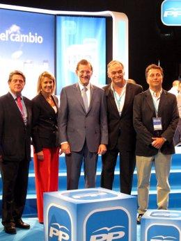 Trillo, Cospedal, Rajoy Y González Pons En La Convención Del PP En Málaga