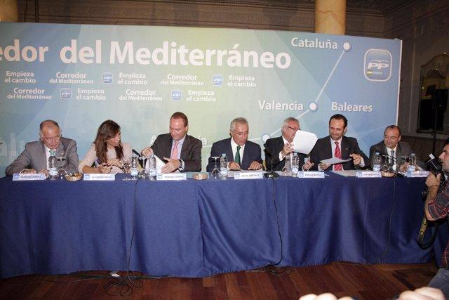 Los Dirigentes Populares En Almería.