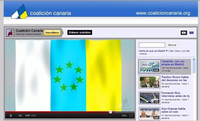 Captura Donde Aparece La Bandera Independentista En El Video De CC