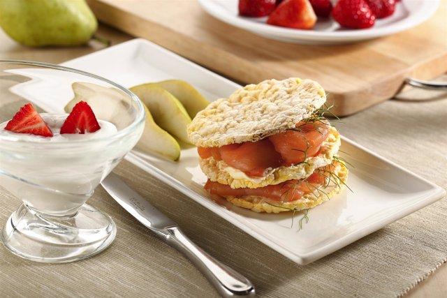 Imagen De Un Desayuno Saludable De La Dieta Mediterránea