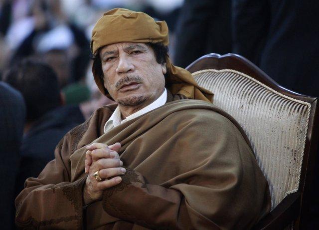 El Líder Libio Muamar Gadafi