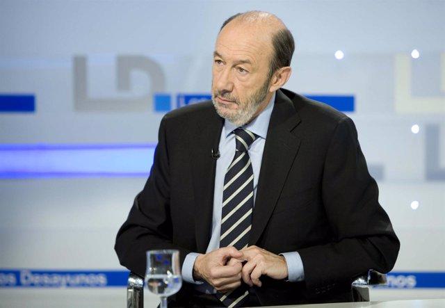 Entrevista De Alfredo Pérez Rubalcaba En TVE