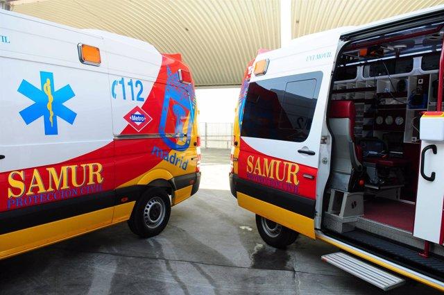 Nuevas ambulancias del Samur