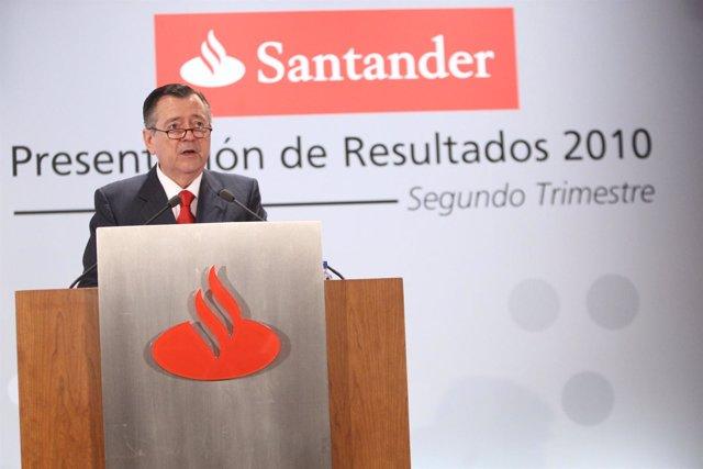 El consejero delegado del Santander, Alfredo Sáenz