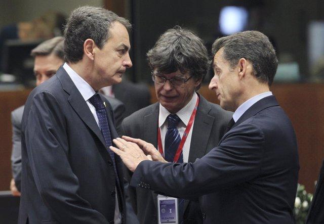 Zapatero Y Nicolás Sarkozy